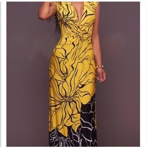 Beautiful floral print maxi dress